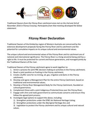 Fitzroy River Declaration